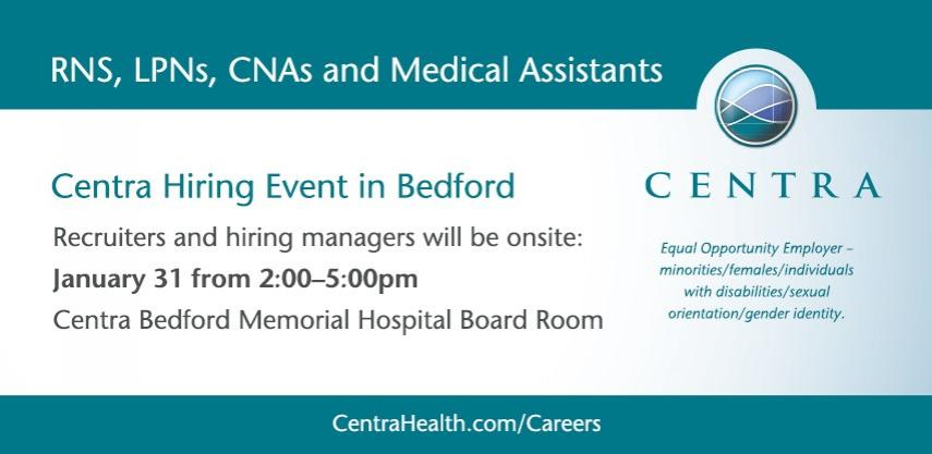 Careers Centra Health Central Virginia S Comprehensive Medical