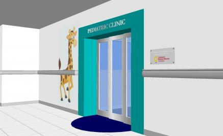 Pediatric Care Entrance Rendering