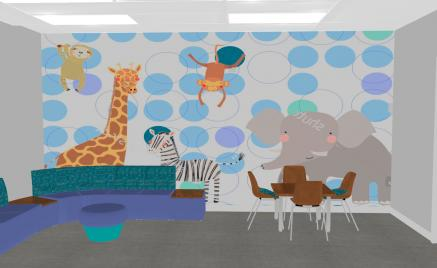 Pediatric Care Lobby Rendering