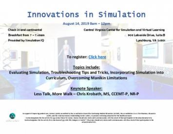 Innovations in Simulation - August 14, 2019